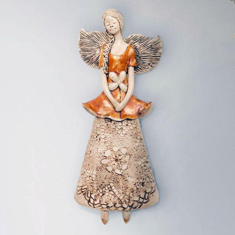 Anioł Abigail figurka dekoracyjna gipsowa